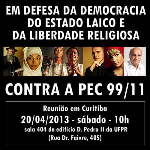 Em defesa da democracia, do Estado laico e da liberdade religiosa.
