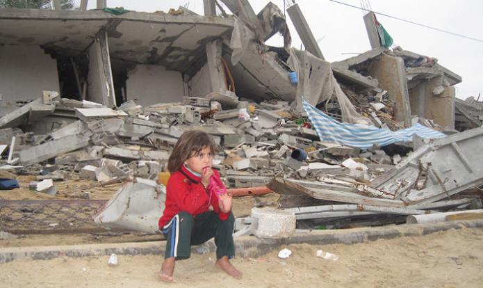 Criança em Gaza