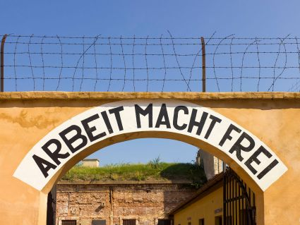 Czech-2013-Theresienstadt-Arbeit_Macht_Frei_(detail)